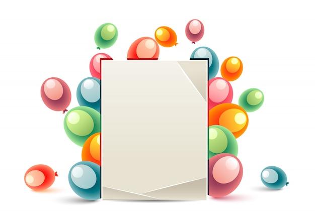 Balões de mensagem de aniversário