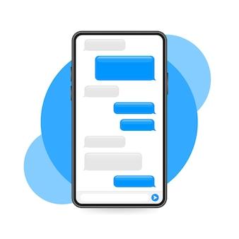 Balões de mensagens planas