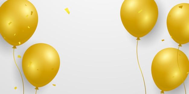 Balões de ouro.