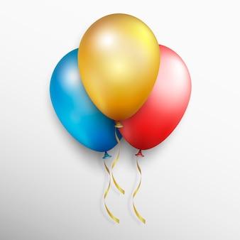 Balões de vetor colorido realista