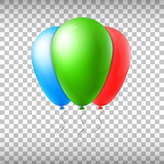 Balões de voo do vetor abstrato conceito criativo