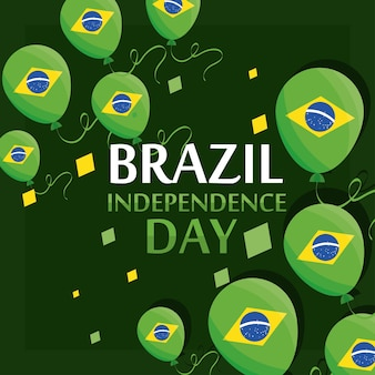 Balões do dia da independência do brasil