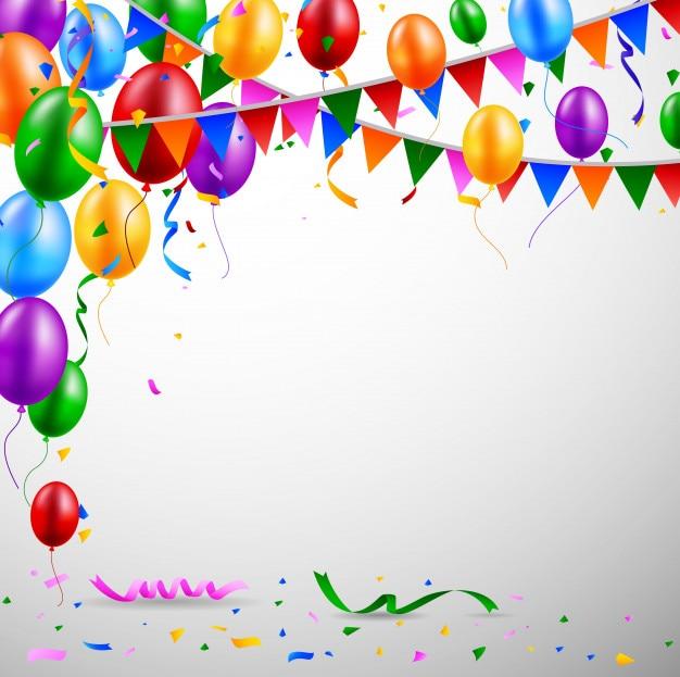 Balões e confetes para festas de aniversário