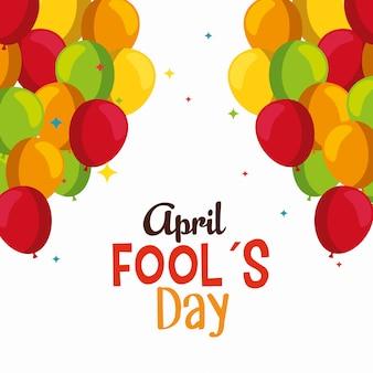 Balões engraçados para celebração do dia dos tolos