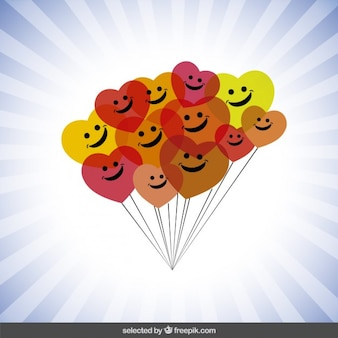 Balões felizes coloridos