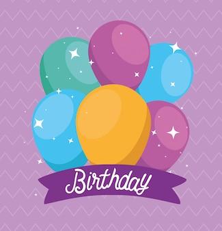 Balões festa design com decoração de fita