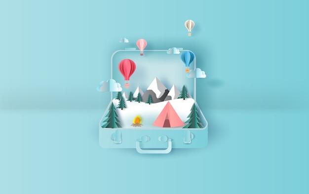 Balões flutuante viagens barraca de férias camping