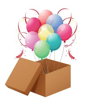 Balões na caixa