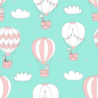 Balões no padrão do céu