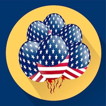 Balões patrióticos dos eua