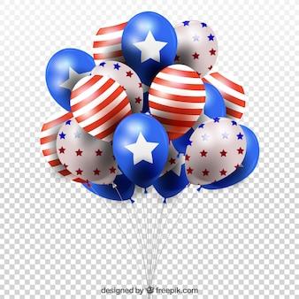 Balões realistas do dia da independência dos eua