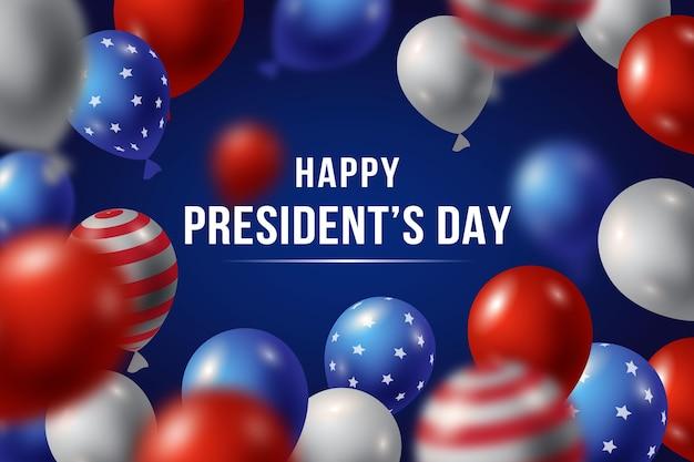 Balões realistas para evento do dia do presidente