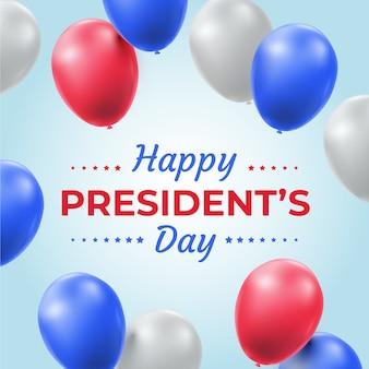 Balões realistas para o dia dos presidentes