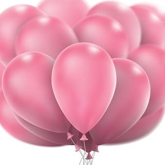 Balões rosa brilhantes.