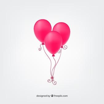 Balões rosa quente