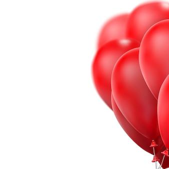 Balões vermelhos brilhantes.