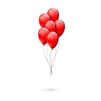 Balões vermelhos brilhantes