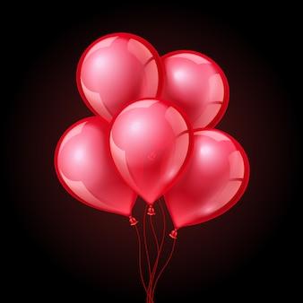 Balões vermelhos festivos