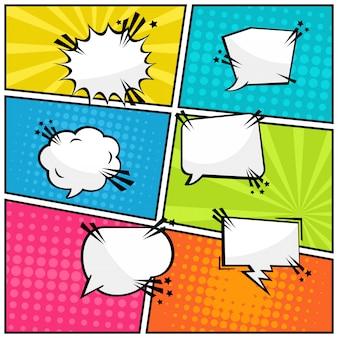 Baloon texto em quadrinhos em quadrinhos pop art
