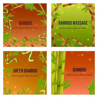 Bambu verde realista natural