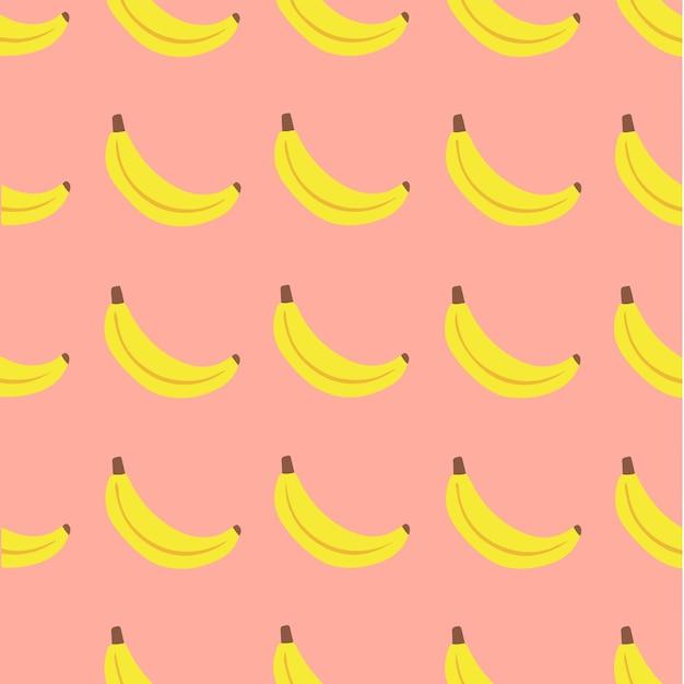 Banana padrão de fundo mídia social postar ilustração vetorial de frutas