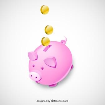 Banco 3d piggy isolado