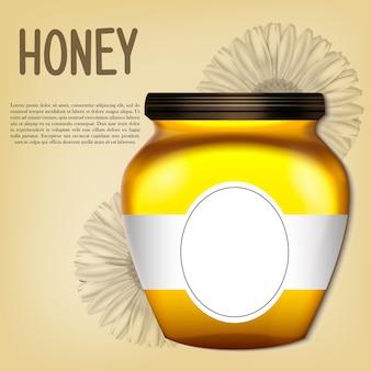 Banco 3d realista de mel.