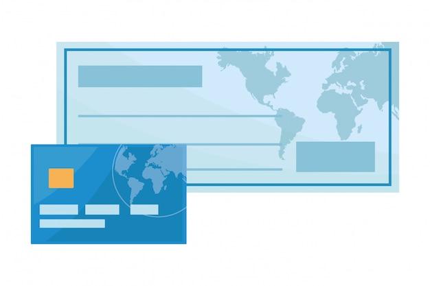 Banco cheque ícone