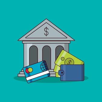 Banco de construção e design de dinheiro