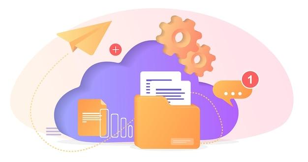 Banco de dados com servidor em nuvem banco de dados de classificação de conjunto de dados desenvolvimento de processos de empresa