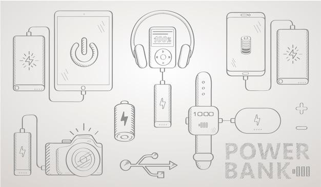 Banco de potência sketch set