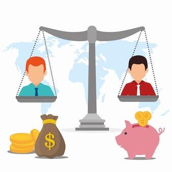 Banco, dinheiro e pagamento online