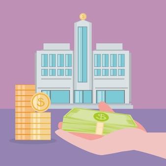 Banco economizando dinheiro
