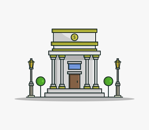 Banco ilustrado cartoon