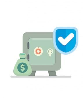 Banco usar a proteção para garantir se obter o ladrão