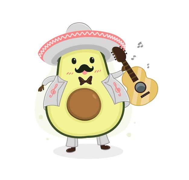 Banda cartoon abacate mariachi