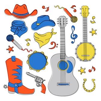 Banda de música de país festival ocidental