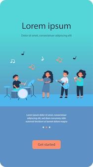 Banda de músico da escola