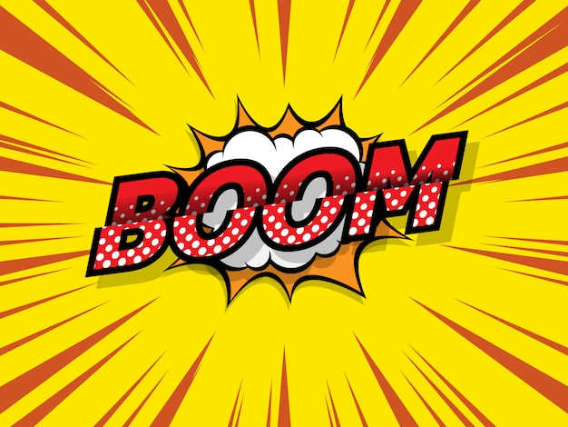 Banda desenhada de boom, fundo de pop art