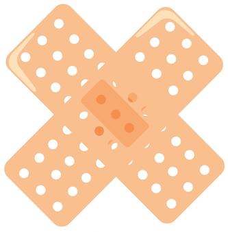 Bandaids em uma cruz