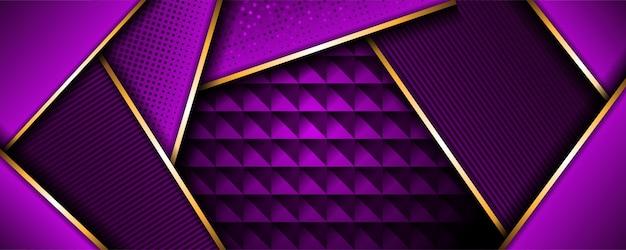Bandeira 3d metálica roxa geométrica moderna abstrata