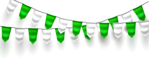 Bandeira 3d realista bunting dia de são patrício
