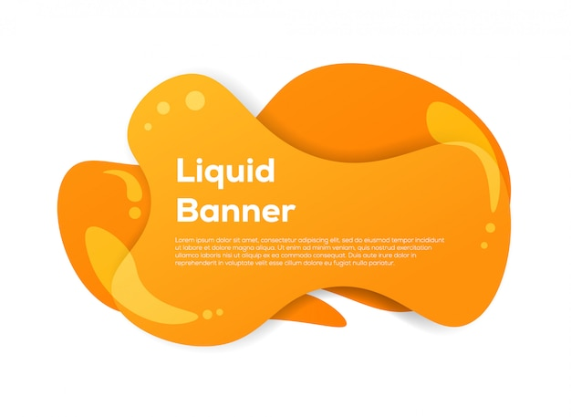 Bandeira abstrata líquida Vetor Premium