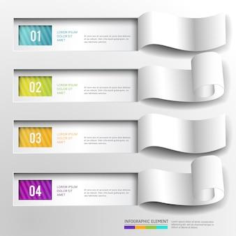 Bandeira abstrata moderna do elemento do projeto de infographic.
