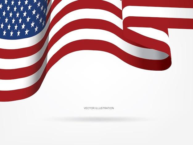 Bandeira americana abstrata para o fundo.