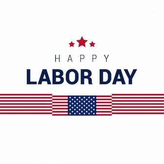 Bandeira americana com a tipografia do dia do trabalho