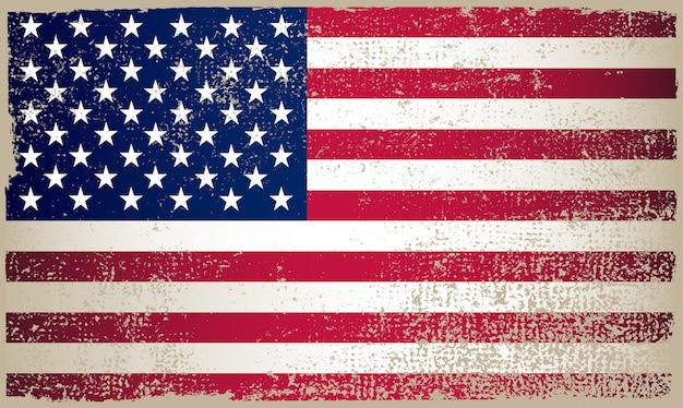 Bandeira americana de grunge