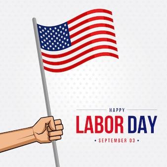 Bandeira americana do dia do trabalho dos eua