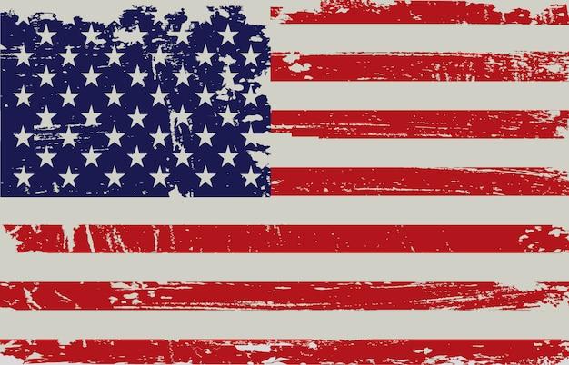 Bandeira americana, em, grunge, estilo
