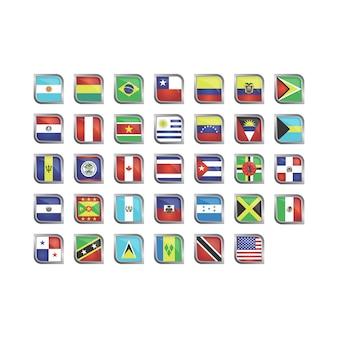 Bandeira americana ícone coleção